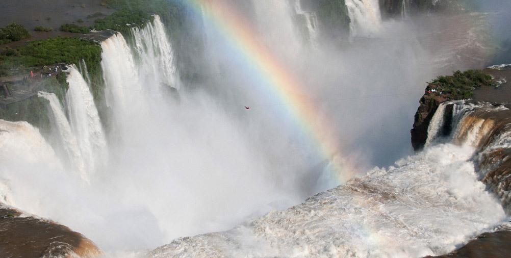 4 Niclevicz tirolesa Cataratas foto aberta
